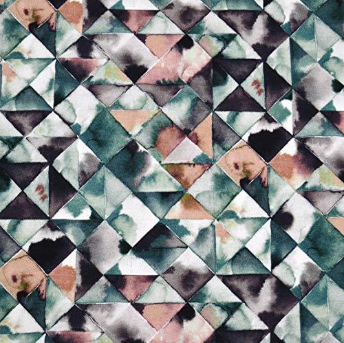 MAGAM-Stoffe Triangle Art French Terry Sweat Stoff Oeko-Tex Meterware 50cm -