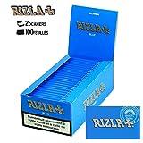 Boite de 25 Cahiers Papier à Rouler (Regular) - Rizla Bleu Ce papier a rouler Rizla Bleu est un papier de haute qualité. Cette marque de papier à rouler est une des plus vendues au monde. Les feuilles contenues dans ce paquet de feuilles à rouler son...