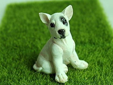 Bull Terrier aus Harz Haus&Outdoor&Garten Dekofigur Puppenhaus Puppenstube zubehör Haushund