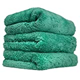 Chemical Guys - Serviette de Polissage MIC35603 en Microfibre sans Couture - Vert