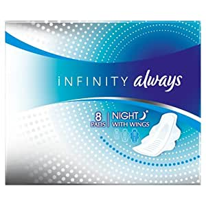 Always Infinity Serviettes Night avec ailettes x 8 - Lot de 2