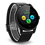 Excelvan K88H Montre Connectée Smartwatch Montre Intelligente Bluetooth V4.0 Podomètre Moniteur de Fréquence Cardiaque Sleep Monitor Call   SMS Reminder Noir