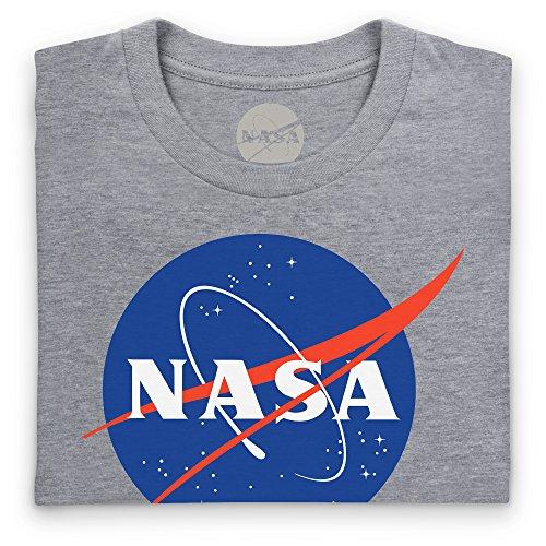 Official NASA White Logo T-shirt, Uomo Grigio mlange