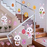Gli slogan stampati sugli adesivi solo per la decorazione, non come marchio. Caratteristiche: Per la Pasqua: Come le immagini mostrate, gli adesivi sono adatti per il giorno di Pasqua, adorabili coniglietti e colorate uova di Pasqua paffute, ...