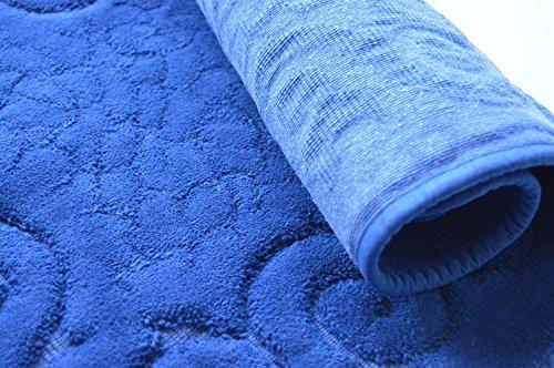 Tris parure tappeti bagno art regal colore blu