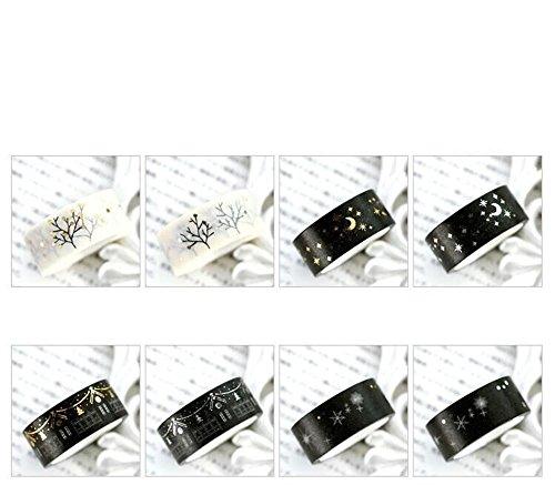 ashi Tape Masking tape- Klebeband Papier die Sterne Dekoration Schwarz und Weiß der Serie Produktion von Zeitung/Noten 150mm * 5m & #,; Distribution zufällige & # xff09; (Halloween-dekorationen Ziel)