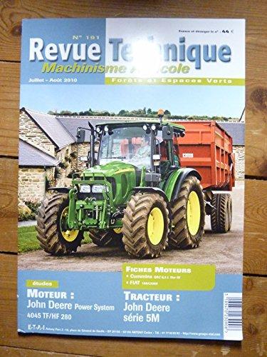 REVUE TECHNIQUE TRACTEUR AGRICOLE ET MACHINISME Série 5M John Deere