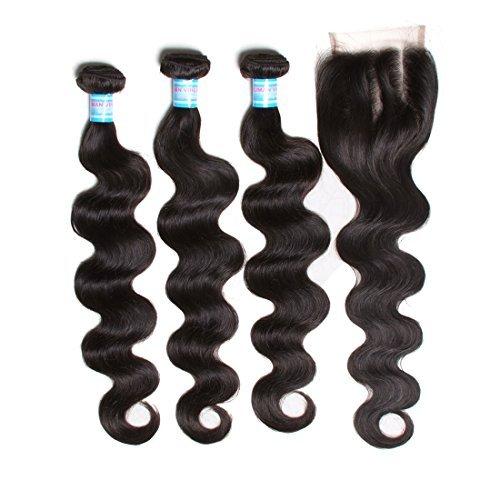 16 18 50,8 cm tissage cheveux brésiliens vierges Body Wave Extensions 3 trames