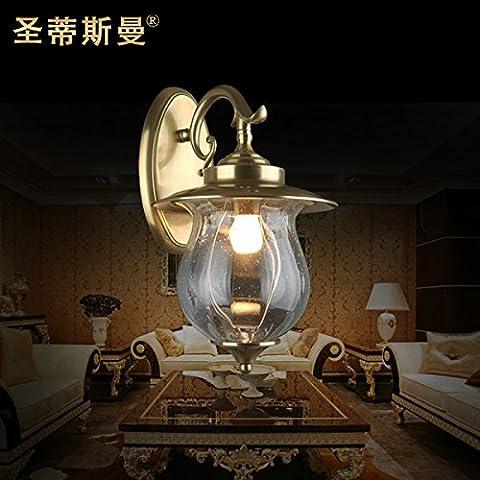 TYDXSD Idyllic rain lamp Wall lamp outdoor wall light garden Manor House Garden Lighting Wall lamp brass