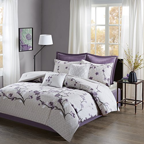 Holly 8 Stück Baumwolle Tröster Set Purple King