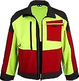 Forst Softshell Jacke FOREST JACK RED (XL, gelb-rot-grau)