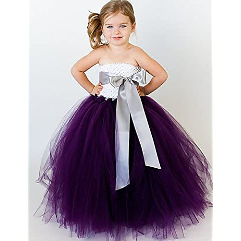 ZY/Ball Gown polpaccio Flower Girl Dress – Tulle/Poliestere senza