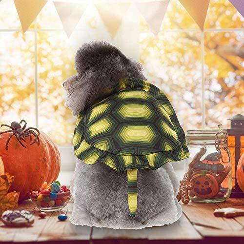 RecoverLOVE Schildkrötenpanzer Haustier Rucksack, Halloween Haustier Hund Kostüm, Turtle Dress Up Turtle Haustier Rucksack Geeignet für Festival und Party - Turtle Kostüm Für Den Hunde
