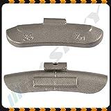 35 g x 100 Pesos de movimiento Ruedecillas de acero Pesos Equilibran Pesos Pesos