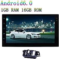 Cámara de visión trasera + FCAM Doble DIN Android 6.0 2DIN 7 pulgadas de pantalla táctil capacitiva estéreo 1 GB de RAM 16 GB de ROM de Vedio del jugador ...