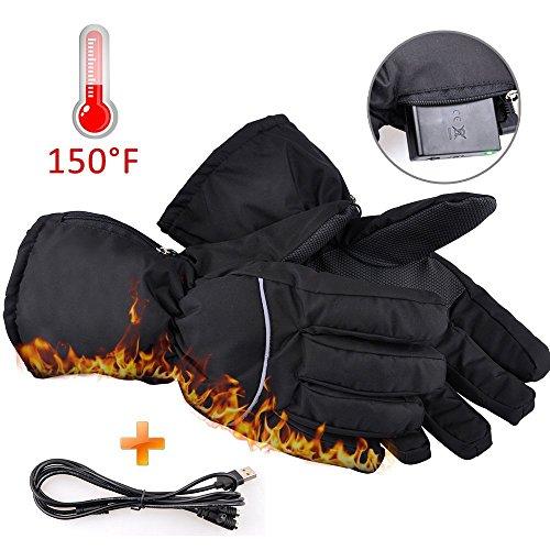 Elektrisch beheizbare Handschuhe Gr S beheizt batteriebetrieben Winter Thermo Camping & Outdoor