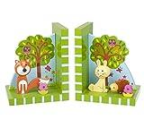 Orange Tree - Woodland amis Serre-livres en bois