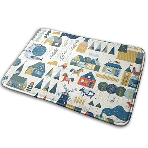 odin sky Scandinavian Dream_3551Easy Clean PVC Rutschfeste Einstiegs-Fußmatte für Patio, vorne, 40 x 60 cm Wetter Außentüren,