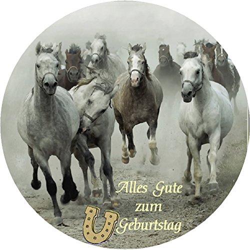 CS-Dekor Tortenaufleger Pferde 038