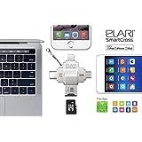 Elari Smartcross, lightning/usb/usb-c/micro-usb/microsd card reader