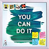 ArtzFolio You Can Do It 1 Printed Bulletin Board Notice Pin Board cum White Framed Painting 12 x 12inch
