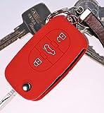 Custodia morbida protezione Cover Cover auto chiave Rosso per AUDI A4 B6 A3 B6 A3 8L A6 C5 A2 A2 K