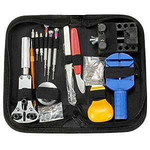 Dproptel 144PCS Watch Repair Tool Kit Set Pin & Back Remover Wrist Watch Repair Kit