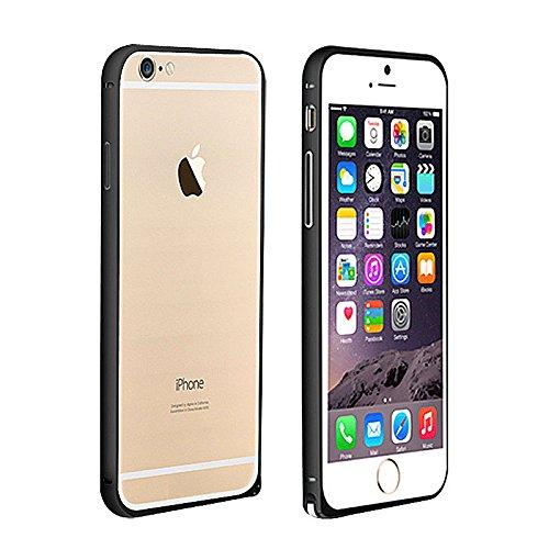 iPhone 6 Alu Aluminium Bumper Case Cover Schale Schutzhülle Probagz® (Braun) Schwarz