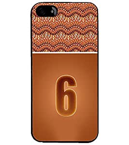 PrintDhaba Numerology Number 6 D-3638 Back Case Cover for APPLE IPHONE 4S (Multi-Coloured)
