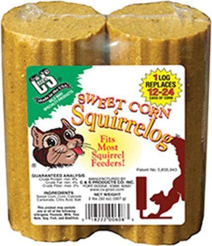 C & S Sweet Corn squirrelog Nachfüllpack, 909, 2er Pack (Bird Seed Feeder-kuchen)