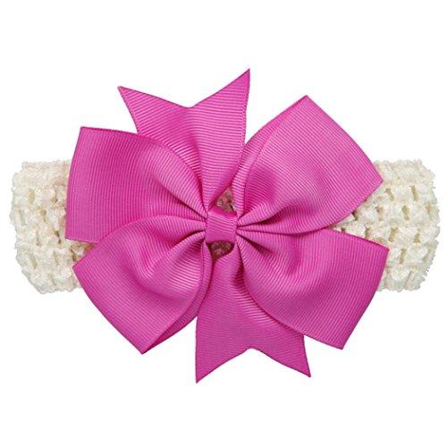 2 Artikel Kit (Stirnbänder Longra Baby Mädchen-Stirnbänder Bowknot Haarschmuck für Mädchen Kinder Stoff Haarband Stirnbänder (0-4 Jahre ) (Wine))
