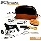 ✮ Barber Tools ✮ Kit/Set/Set di manutenzione e di cura per barba (10pezzi). Il regalo ideale per gli uomini Barba..
