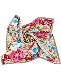 Prettystern - 52cm Bandana Nickituch 100% seide Tuch - Japan Sakura Kirschblüte - 4 Farbe Auswahl