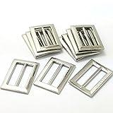MagiDeal 10x Karabinerhaken Metallringe für Gurtband Handtaschen Leder Handwerk Taschen zubehör DIY - Silber 3, wie beschrieben