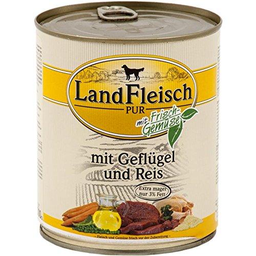 Landfleisch Pur 800g Rinderherzen & Reis