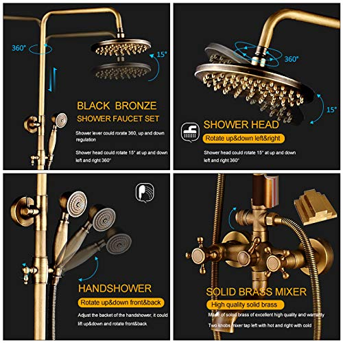 Zoom IMG-1 rubinetto set 8set doccia a
