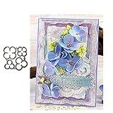 KimcHisxXv Stanzformen, Flower Metal Stanzformen DIY Scrapbooking Gru?Karte Pr?ge Craft Schablone - Silber