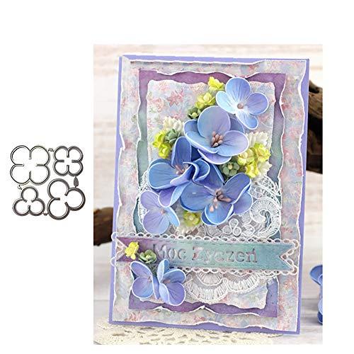 en, Flower Metal Stanzformen DIY Scrapbooking Gru?Karte Pr?ge Craft Schablone - Silber ()