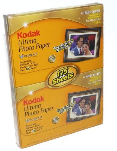 Kodak ultima photo paper–4x 6–175sheets–high gloss by kodak