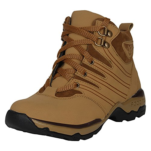 Kraasa Men's Brown Synthetic Boots - 9