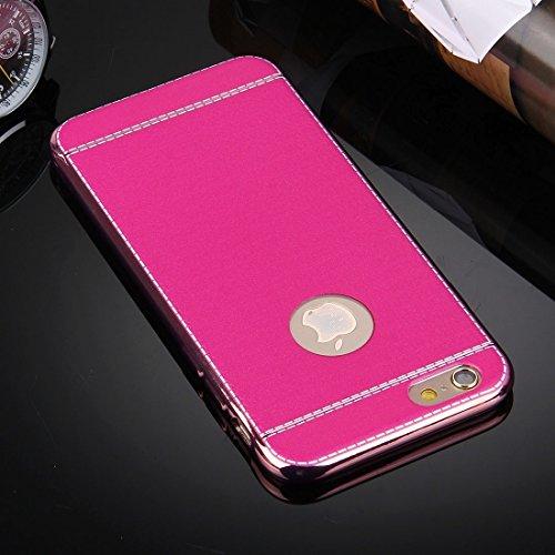 Für iPhone 6 Plus / 6s Plus, 3D Litchi Texture Soft TPU Schutzhülle DEXING ( Color : Red ) Magenta