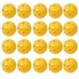 20 x Amarilla Bola Pelota Perforada Hueco de Práctica para Entrenamiento Golf