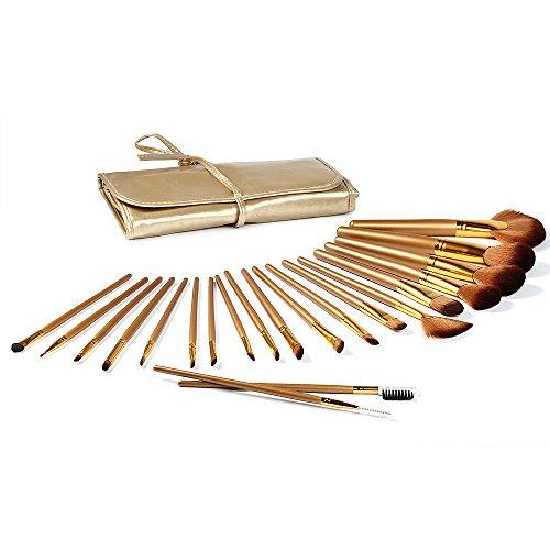 FACILLA® 21pcs or pinceaux de maquillage Kit Brosses Professional professionnelle cosmétique + sac