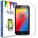 POPIO™ Tempered Glass Screen Protector For Moto C Plus (5 Inch) with free installation kit with Secure Packing.