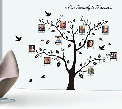 Cadre photo branche d'arbre et feuilles stickers muraux amour doux décoration murale de mémoire
