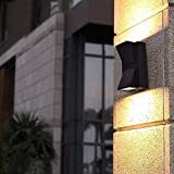 SparC LightS Up Down Outdoor Led Wall Light IP65, Warm White (2x3W), Grey Aluminium Die Casting Body-UPDN-WL-K-1