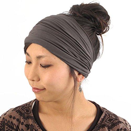 Casualbox Herren Kopf Abdeckung Band Bandana Stretch Haar Stil Japanisch anthrazit (Bett-köpfe)