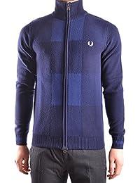 Fred Perry Homme MCBI128159O Bleu Laine Sweatshirt