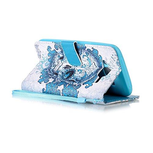 Samsung Galaxy J3 2015 Hülle,Sunroyal PU Leder Brieftasche Schutzhülle Tasche Handyhülle Schutz Hüllen im Bookstyle Ledertasche mit Stand Funktion Kartenfächer Magnetverschluss Magnet Etui Schale Schu Pattern 8