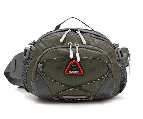 Outdoor peak Unisex Oxford wasserabweisend Gürteltasche Tagetasche Messenger Bag Wanderrucksack Multifunktions-Tasche Radfahrrad Trekkingrucksack Wandern Trekking Armee grün